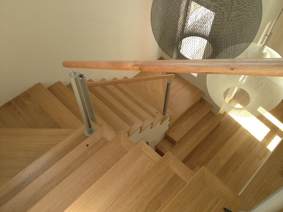 Light Oak Timber Staircase Floorboards