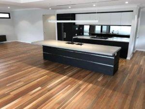 kitchen hybrid floor installation